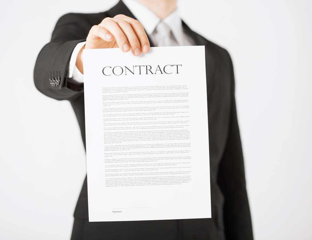 Get the memorandum of sale and the contracts out quickly