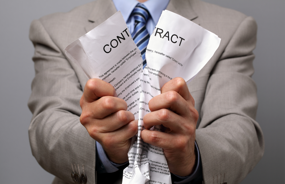 When a buyer changes the price they are tearing up the contract