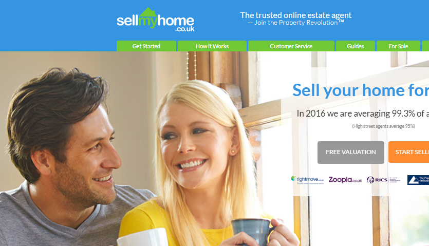 The SellMyHome website
